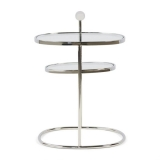 Liberty Hexagon Side Table, Silver